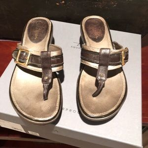 Cole Haan bronze leather sandal